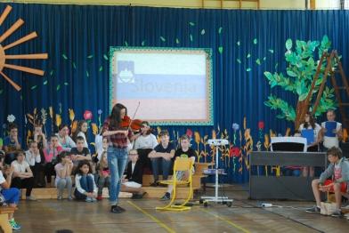 Kristina on a violin